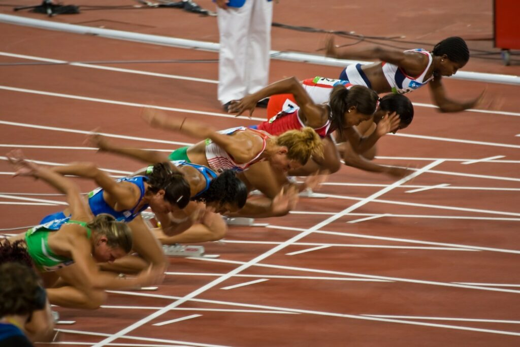 Athletes-competing