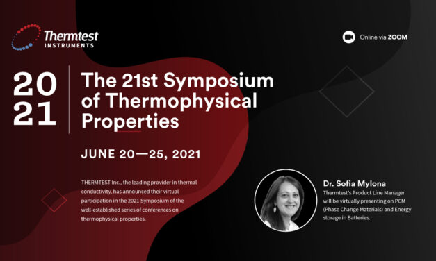 Thermtest Inc. will be attending the 21st Symposium of thermophysical properties.