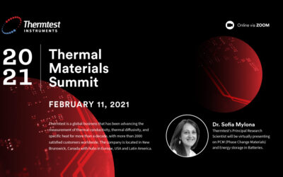 Thermtest Inc. will be attending the 2021 Thermal Materials Summit