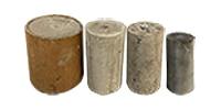 Four concrete samples
