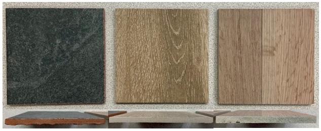 thermal effusivity flooring samples