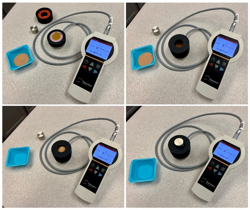 Thermal Effusivity testing process