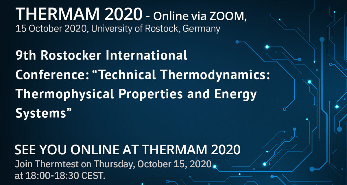 Thermtest is attending the 9th Rostocker International Conference