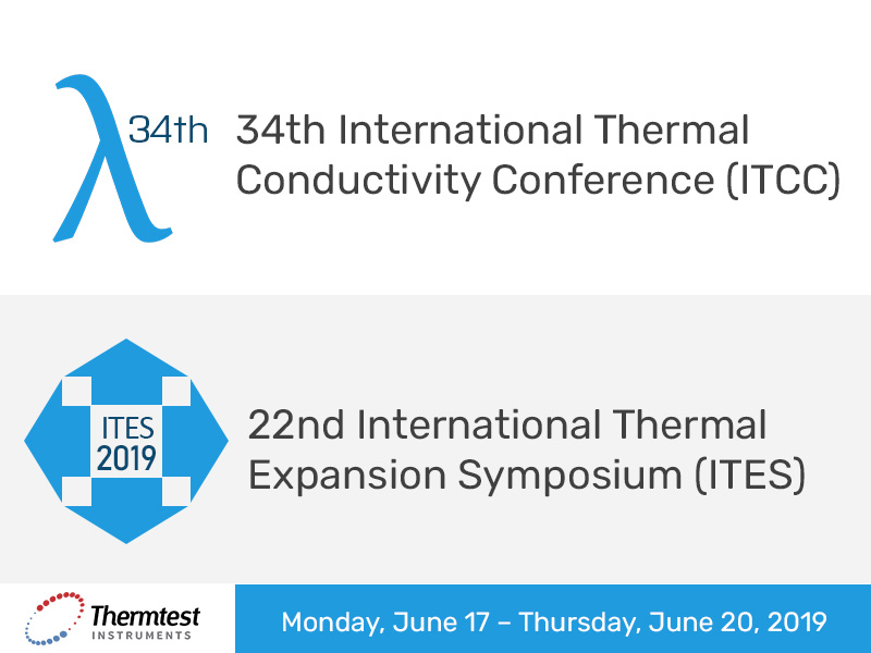 Announcement: Thermtest Attending ITCC 34/ITES 22: 17 – 20 June 2019