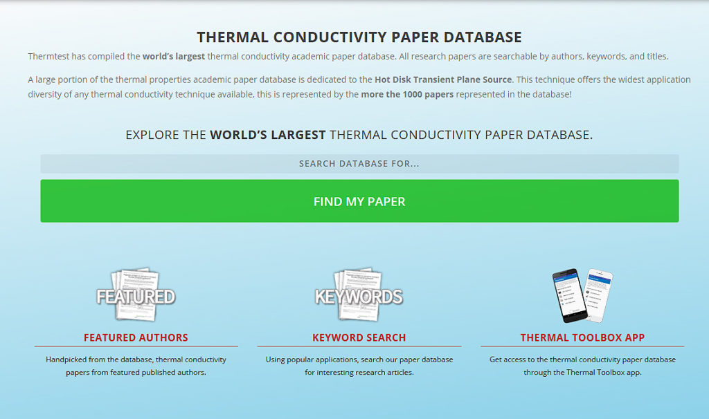 Thermal Conductivity Analyzer